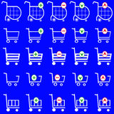 Shopping basket vector set - online shopping cart Stock Photo