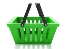 Shopping basket  on white background Stock Photo