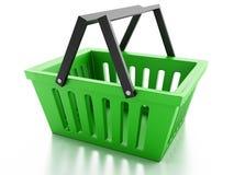 Shopping basket  on white background Royalty Free Stock Images