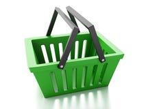 Shopping basket  on white background Stock Image