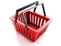 Shopping basket  on white background Royalty Free Stock Image