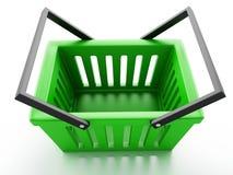 Shopping basket  on white background Stock Images