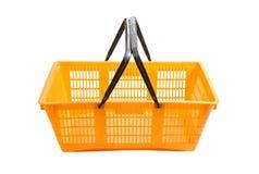 Shopping basket on white Stock Photography