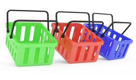 Shopping baskets Stock Photography