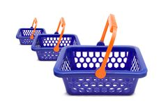 Shopping baskets Royalty Free Stock Images
