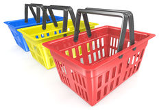 Shopping baskets. Royalty Free Stock Photos