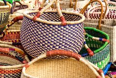 Shopping baskets selection Royalty Free Stock Photo
