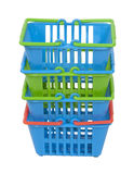 Shopping Baskets Stacked Royalty Free Stock Image