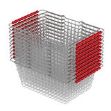 Shopping baskets stacked Royalty Free Stock Photos