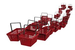 Shopping baskets stream Royalty Free Stock Images