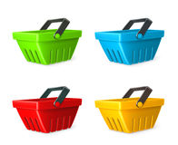 Shopping baskets vector icons Stock Photo