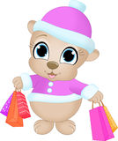Shopping Bear Royalty Free Stock Photography