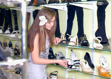 Shopping: Beautiful young women in store Stock Photo