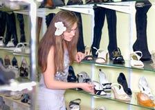 Shopping: Beautiful young women in store Stock Photo