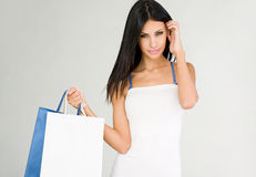 Shopping beauty. Stock Images