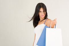 Shopping beauty. Royalty Free Stock Image