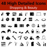 Shopping and Beauty Smooth Icons Royalty Free Stock Photos