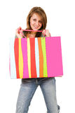 Shopping beauty woman Stock Photography