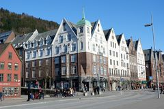 Shopping in Bergen, Norway stock image