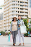 Shopping with best friend Stock Images