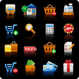 Shopping_black background Royalty Free Stock Image