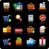 Shopping_black background Royalty Free Stock Image