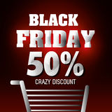 Shopping black friday day discounts Stock Photography