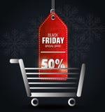 Shopping black friday day discounts Royalty Free Stock Photos