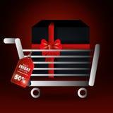 Shopping black friday day discounts Stock Photos