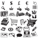 Shopping black icons Royalty Free Stock Image