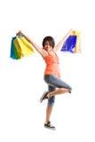 Shopping black woman Royalty Free Stock Photography