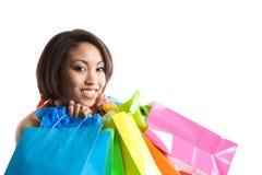 Shopping black woman Stock Image