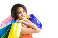 Shopping black woman Stock Photography
