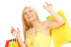 Shopping blonde Stock Images
