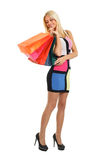 Shopping blonde Royalty Free Stock Images