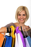 Shopping blonde girl Stock Photo