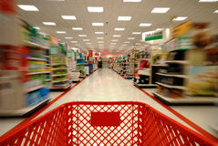 Shopping Blur 1 Stock Image