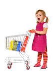 Shopping is boring Royalty Free Stock Photo