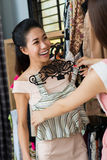Shopping in boutique Royalty Free Stock Images