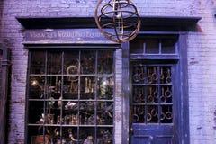 Shopping for boy wizards Stock Photos