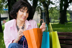 Shopping break Royalty Free Stock Photo