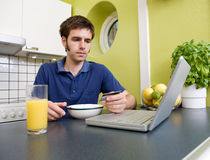 Shopping during Breakfast Royalty Free Stock Photo