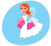 Shopping bride illustration stock illustration