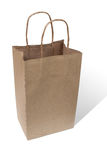 Shopping brown paper bag isolated white background Royalty Free Stock Image