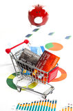 Shopping budget Stock Photography