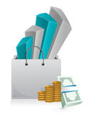 Shopping business concept Royalty Free Stock Images