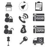 Shopping, business icon Royalty Free Stock Photos