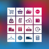 Shopping and Business Icons Royalty Free Stock Image