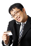 Shopping businessman Stock Images