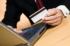 Shopping businessman Stock Image